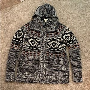 Forever 21 Knit Zip-up Hoodie Small